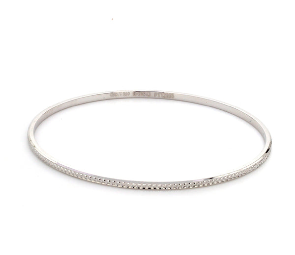 Thin Platinum Bangles with Diamond Cut SJ PTB 314