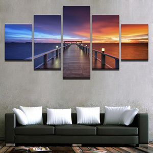 Sunset Glow Bridge Seascape