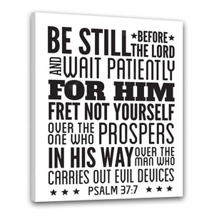 Be Still Wait Patiently