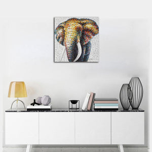 Abstract Elephant Mural
