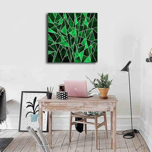 Green Abstract Print