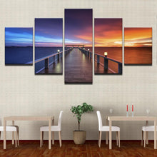 Load image into Gallery viewer, Sunset Glow Bridge Seascape