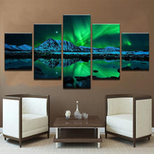 Load image into Gallery viewer, Green Aurora Borealis Lake Hill