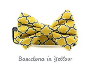 0be6cd0d828e Barcelona in Yellow Dog Bow Tie Collar