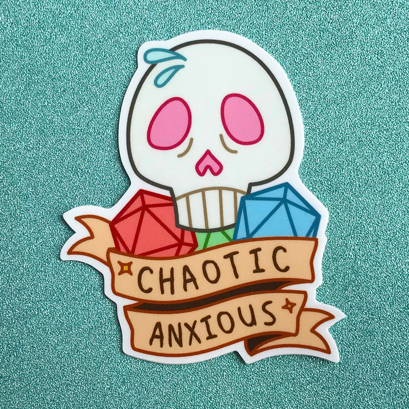 Chaotic Anxious Sticker