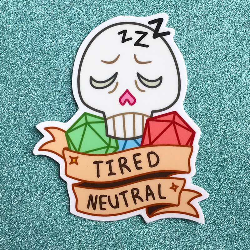 Tired Neutral Sticker