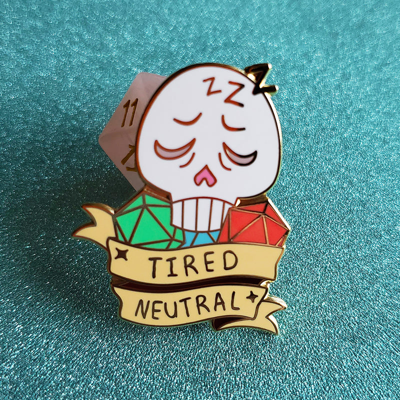 Tired Neutral Pin