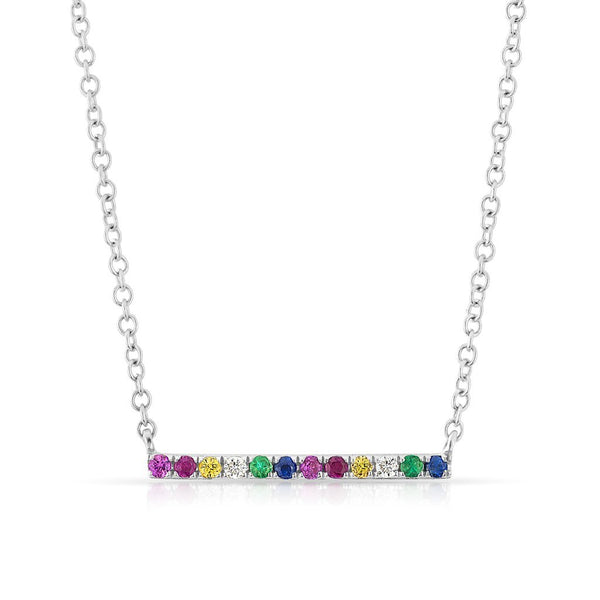 Rainbow Bar Necklace