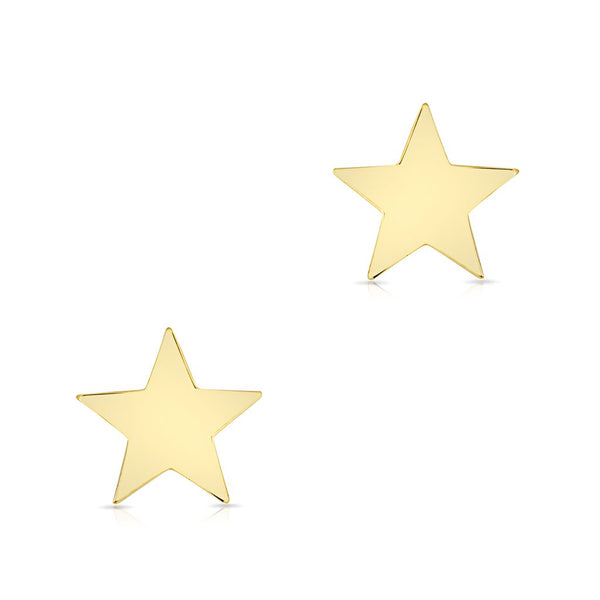 Gold Star Stud Earrings