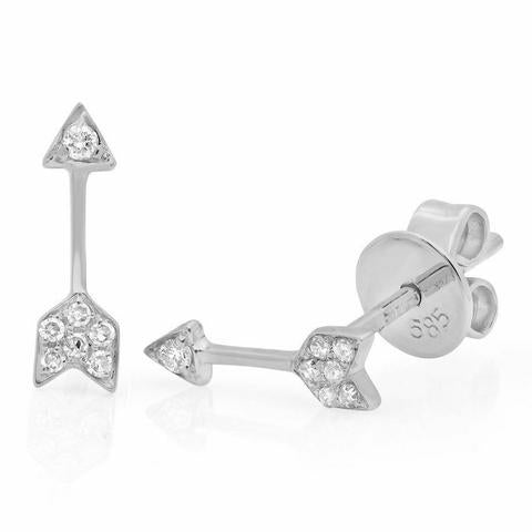 Small Diamond Arrow Earrings