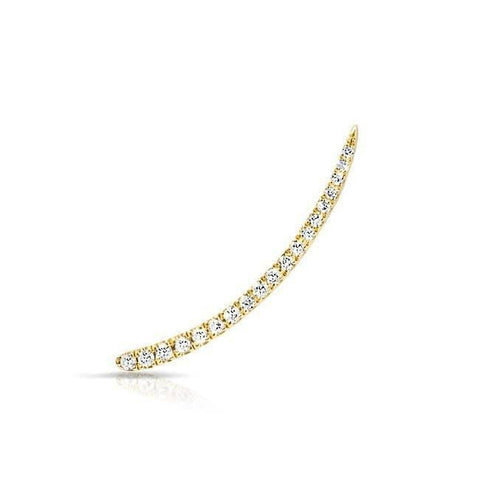 Curved Diamond Ear Climbers