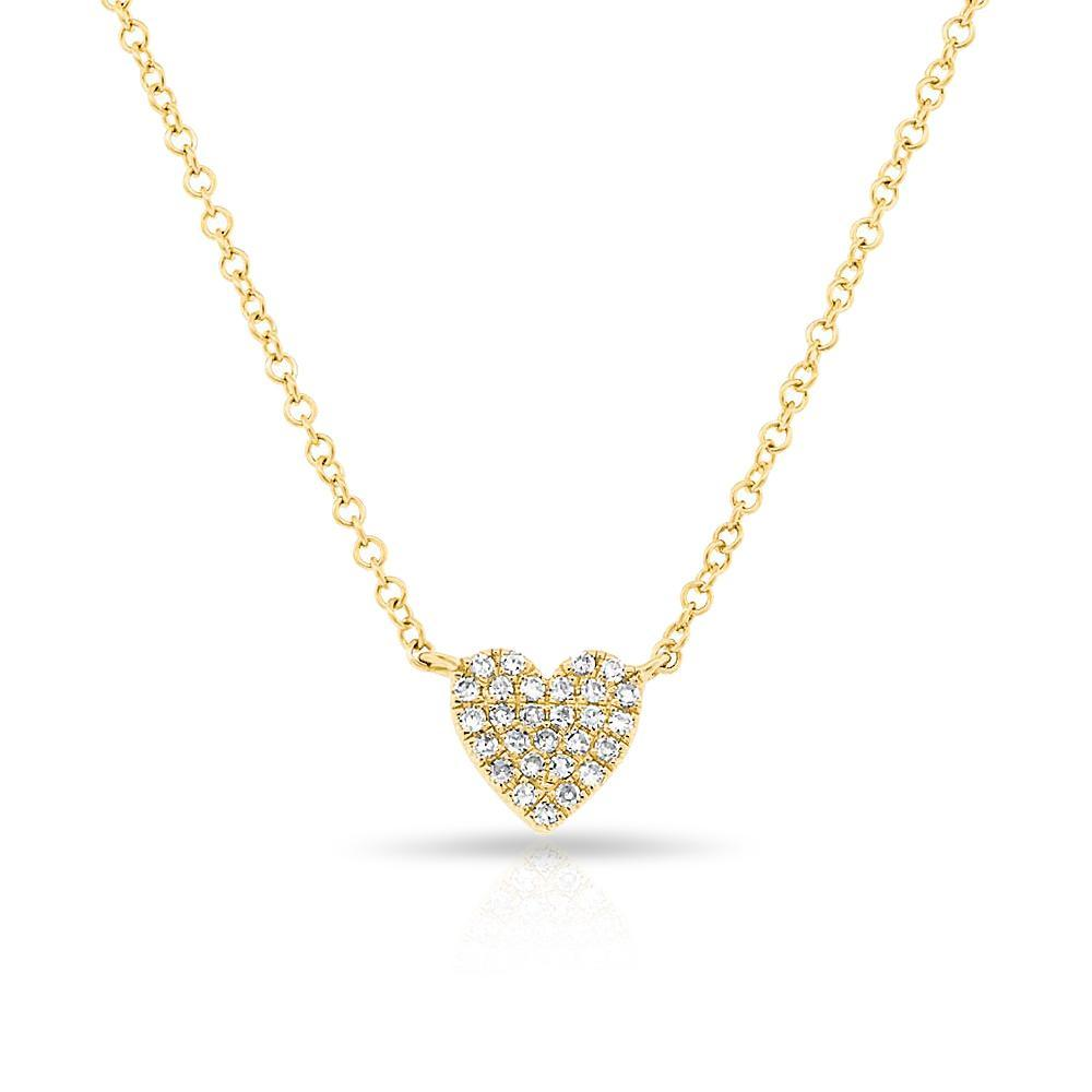 Small Diamond Heart Necklace