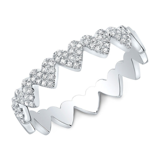 Diamond Heart Eternity Ring