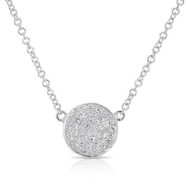Diamond Disc Necklace