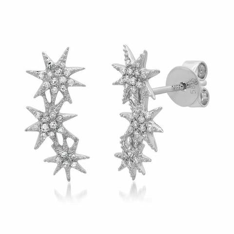 Triple Starburst Earrings