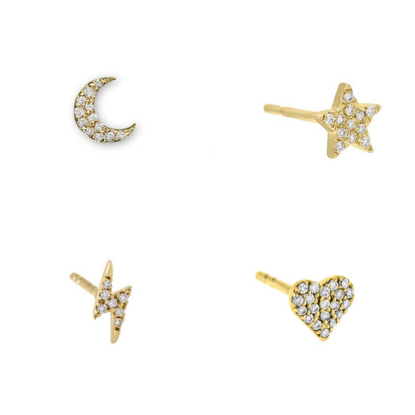Diamond Mini Stud Singles