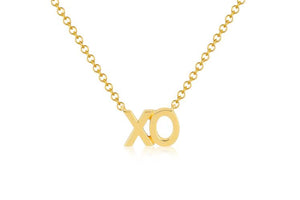 Solid Gold XO Necklace