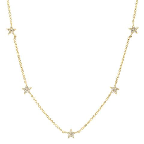 5 Diamond Star Necklace