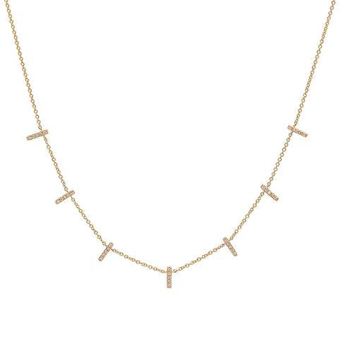 Diamond Multi Bar Necklace