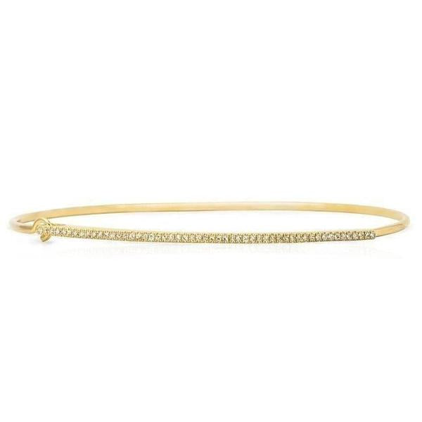 Diamond Bar Bangle Bracelet