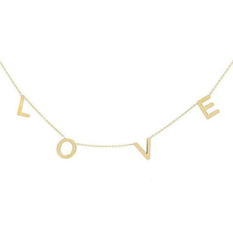 Gold Love Necklace