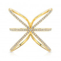 Diamond X Plus Ring
