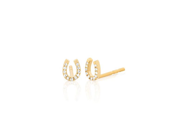 Mini Diamond Horseshoe Earrings
