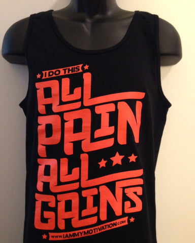 All Pain, All Gains - Black/Orange