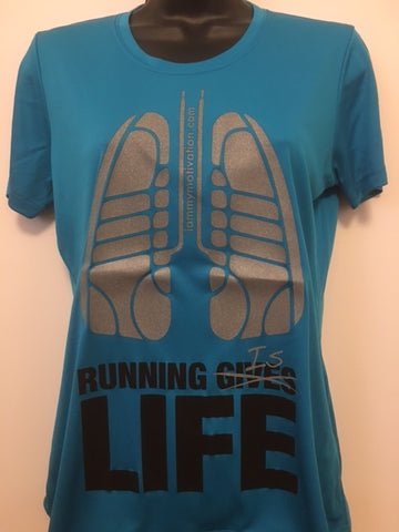 Running is Life - Atomic Blue