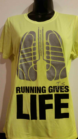 Running is Life - Neon Yellow