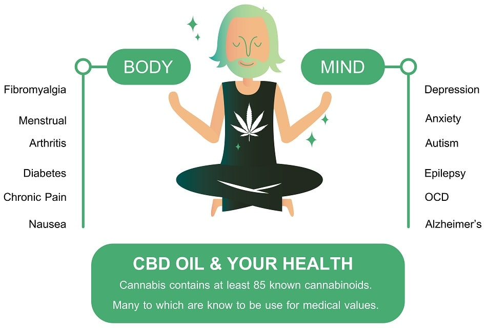 graphic depicts effects of cbd on cannabinoid receptors - what are cannabinoid receptors