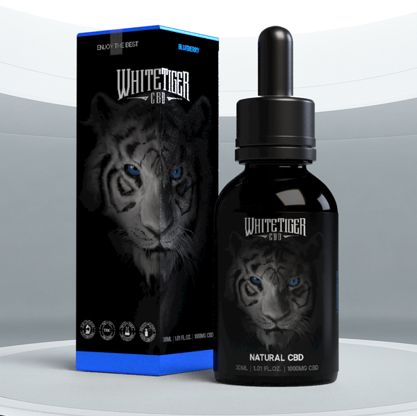 White Tiger CBD Oil, Blueberry 1000mg