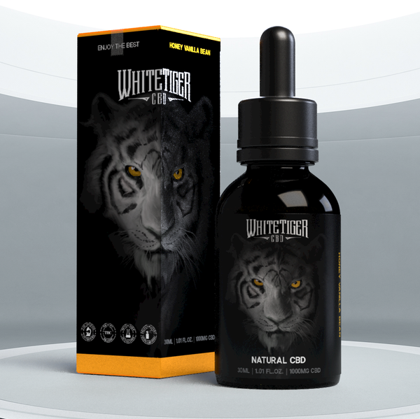White Tiger CBD Oil, Honey Vanilla Bean 500mg