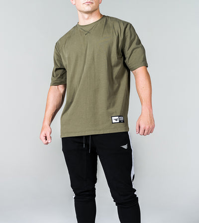 LIMITLESS OVERSIZED TEE - MILITARY GREEN