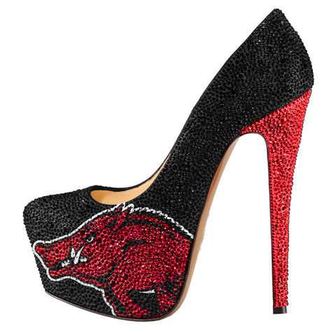 Limited Edition University of Arkansas Razorbacks Crystal Pumps