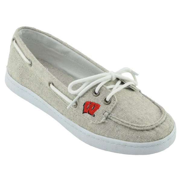 NCAA WISCONSIN BADGERS Women's Kauai Boat Shoe
