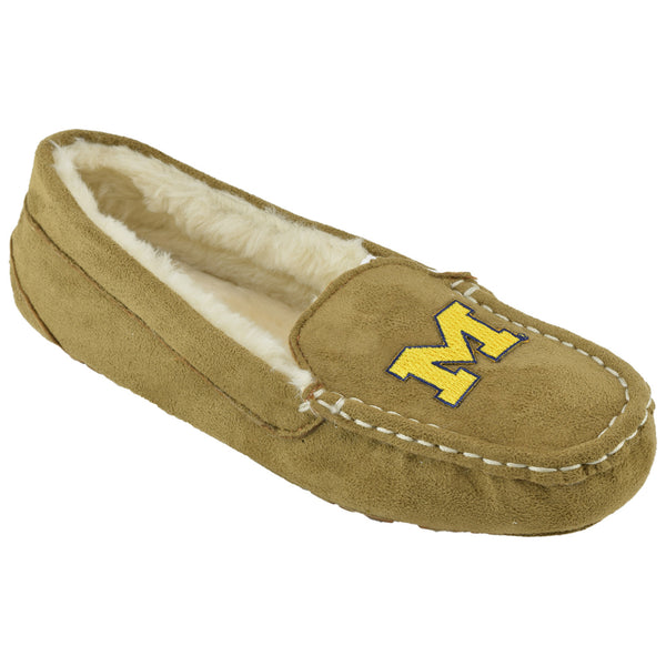 NCAA MICHIGAN WOLVERINES Women's Chestnut Moc