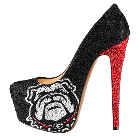 2014-15 Limited Edition University of Georgia Bulldogs Crystal Pumps