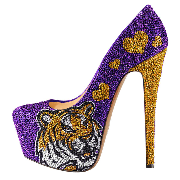 2014-15 Limited Edition LSU Tigers Crystal Pumps