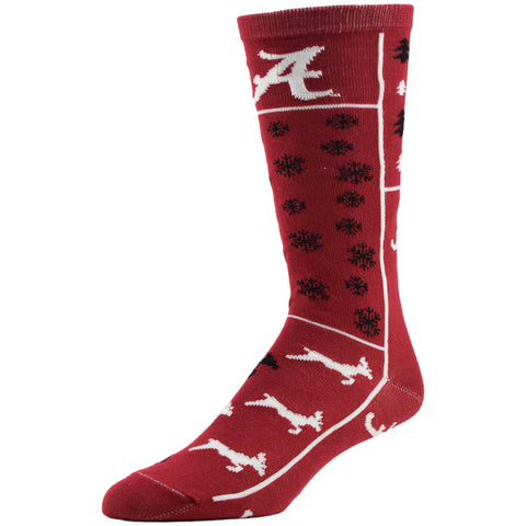 NCAA, Alabama Holiday socks, by MOJO.