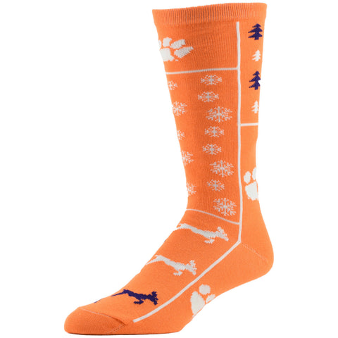 NCAA, Clemson Holiday socks, by MOJO.