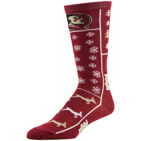 NCAA, Florida State Holiday socks, by MOJO.