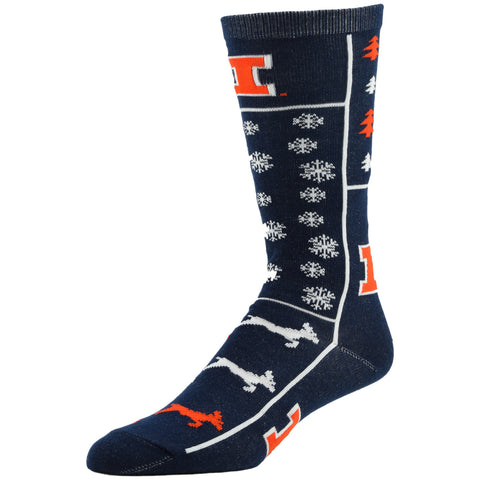 NCAA, Illinois Holiday socks, by MOJO.