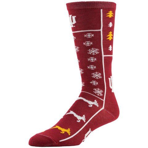 NCAA, Indiana Holiday socks, by MOJO.