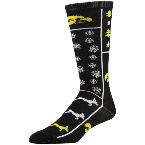 NCAA, Iowa Holiday socks, by MOJO.