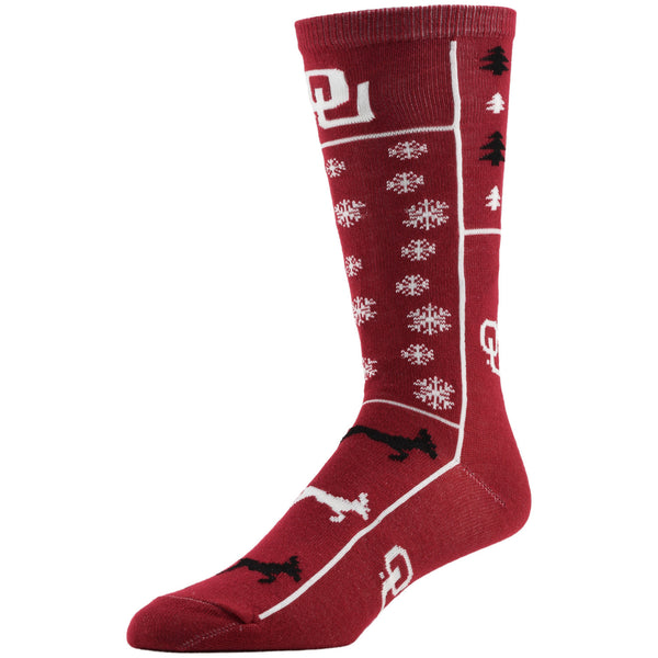 NCAA, Oklahoma Holiday socks, by MOJO.