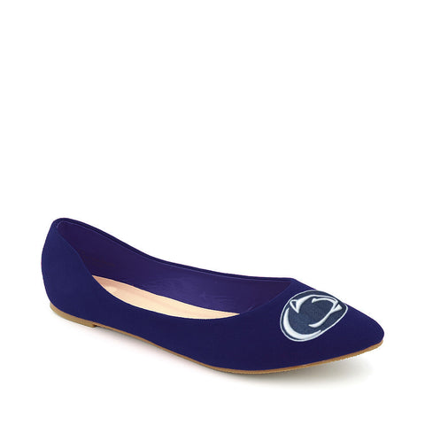 Penn State Nittany Lions Pointed Toe Suede Ballet Flats