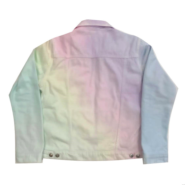 Rainbow Ombre Denim Jacket