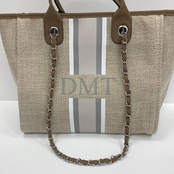 Chanella Chain Bag Trio - Beige