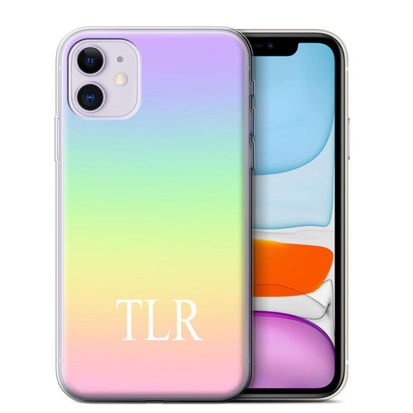 Personalised Phone Case Rainbow Ombre